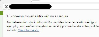 conexión no segura - instalar ssl