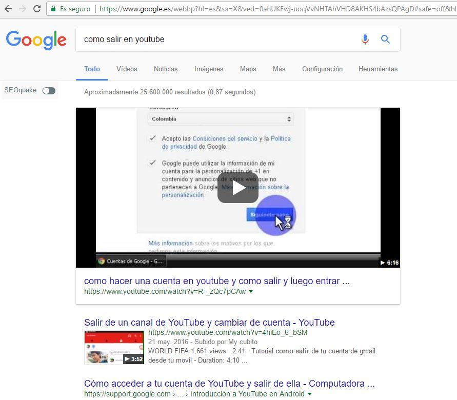 Posiciónate en Google con vídeos de Youtube