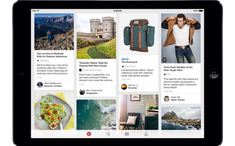 Pinterest en iPad