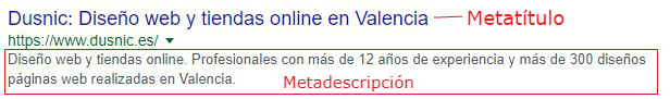 Metaetiquetas para el SEO On Page