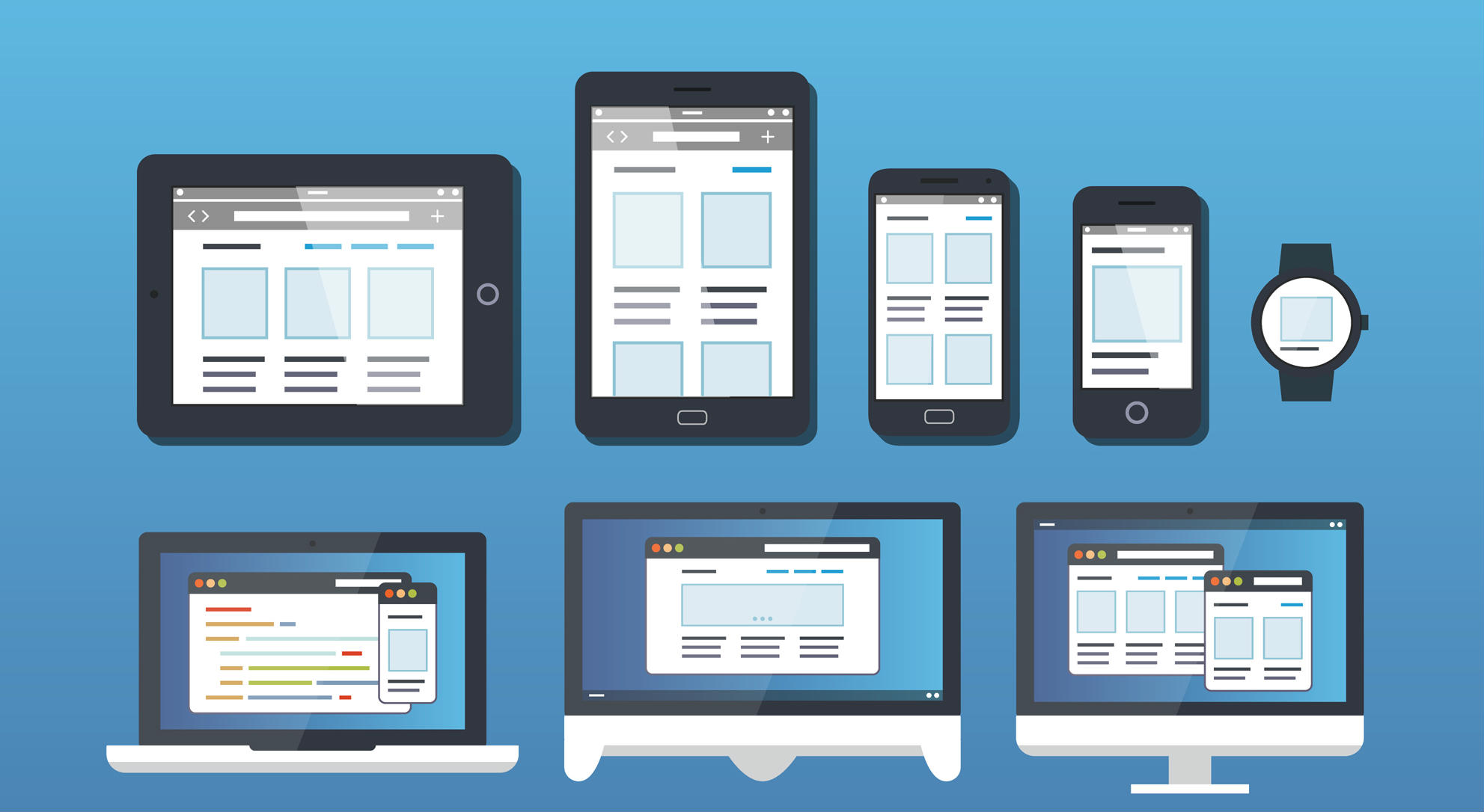 Diseño responsive en distintas pantallas