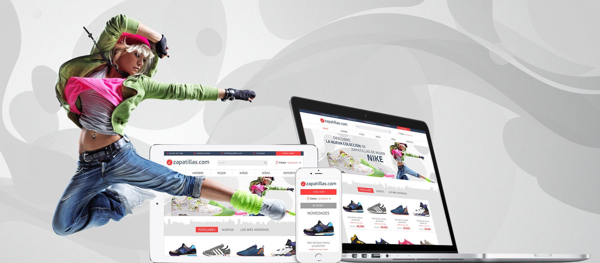 a16dd263bb Tienda online realizada para - Diseño Tienda Online Zapatillas ...